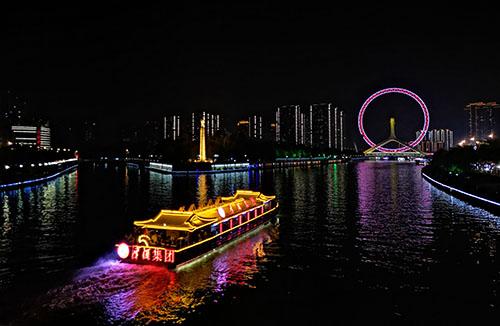 天津海河游玩